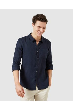 French Connection Men Casual - Linen Regular Fit Shirt - Casual shirts (OXFORD ) Linen Regular Fit Shirt
