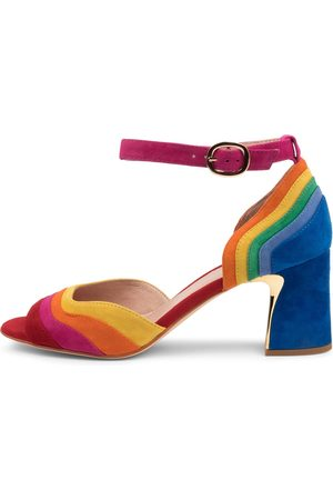 Django & Juliette Women Heeled Sandals - Kage Dj Bright Multi Sandals Womens Shoes Party Heeled Sandals