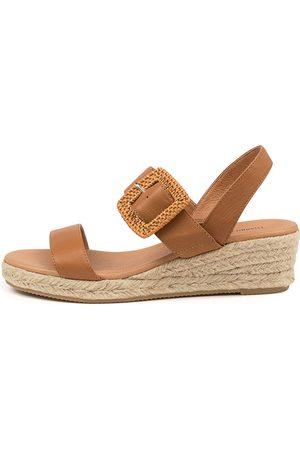 Django & Juliette Women Heeled Sandals - Samiya Dj Dk Tan Sandals Womens Shoes Casual Heeled Sandals