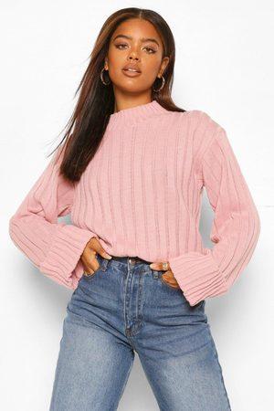 Boohoo Maxi Wide Sleeve Wide Rib Sweater