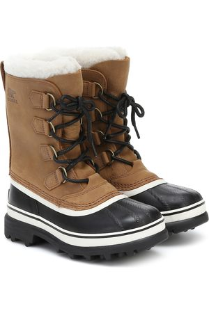 sorel Caribou shearling and nubuck snow boots