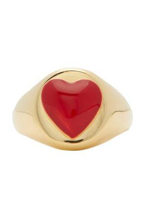 WILHELMINA GARCIA Heart Enamel & 18kt Signet Ring - Womens