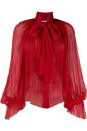 Atu Body Couture Women Blouses - Balloon-sleeve chiffon blouse