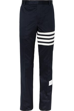 Thom Browne Men Chinos - Slim-Fit Tapered Striped Cotton-Twill Chinos
