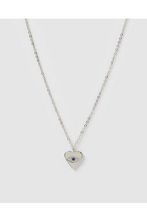 Izoa Emilia Evil Eye Heart Pendant Necklace - Jewellery Emilia Evil Eye Heart Pendant Necklace