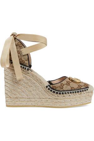 Gucci Women Heeled Sandals - Women's GG matelassé platform espadrille