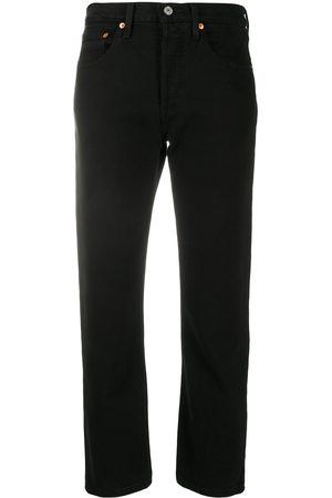 Levi's Straight-leg cropped jeans
