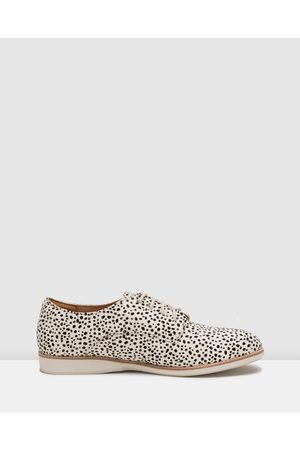 Rollie Women Loafers - Derby Shoes - Flats (Stripe - Print) Derby Shoes