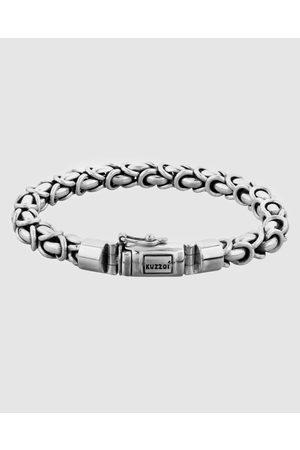 Kuzzoi Men Bracelets - Bracelet Men Buddha Round Bali Byzantine Cuban Chain 925 Sterling - Jewellery Bracelet Men Buddha Round Bali Byzantine Cuban Chain 925 Sterling