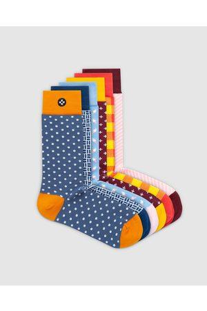 Sockdaily Finer 6 Pack Crew Socks - Underwear & Socks (Multi) Finer 6 Pack Crew Socks