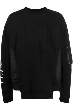 VALENTINO Men Sweatshirts - Logo-print long-sleeve sweatshirt