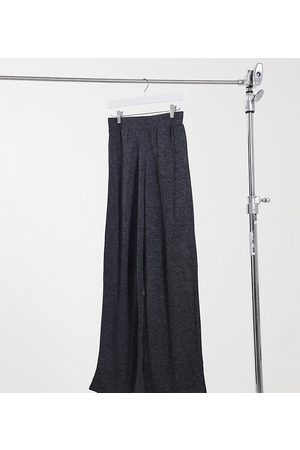 Only Stretch wide-legged pants in grey