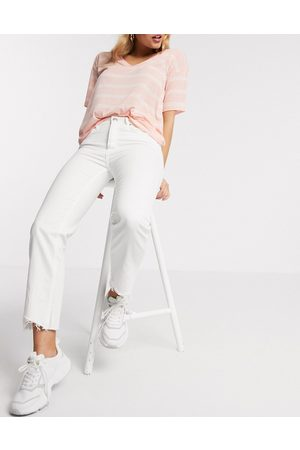 Pimkie Recycled cotton straight fit jean in white
