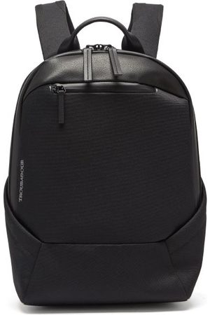 TROUBADOUR Explorer Apex Compact Grained-leather Backpack - Mens