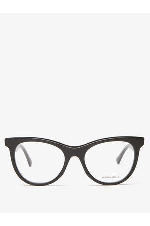 Bottega Veneta Round Acetate Glasses - Womens
