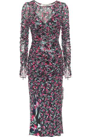 Diane von Furstenberg Corinne printed mesh midi dress