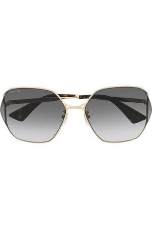 Gucci Oval-frame sunglasses