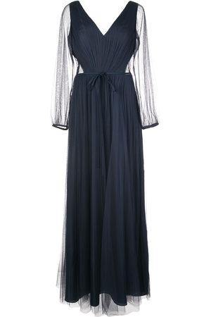 Marchesa Notte Women Evening Dresses - Sheer sleeved bridesmaid dress
