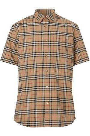 Burberry Check print short-sleeve shirt
