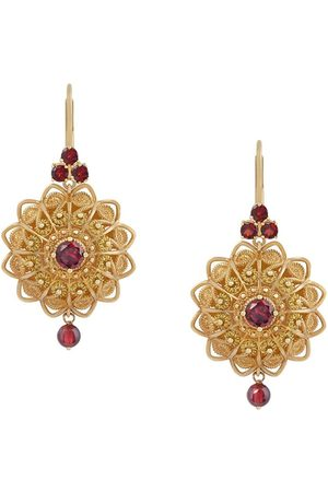 Dolce & Gabbana 18kt yellow Pizzo earrings