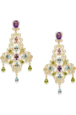 Dolce & Gabbana 18kt yellow stone drop earrings