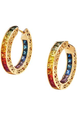 Dolce & Gabbana Multi-gem hoop earrings