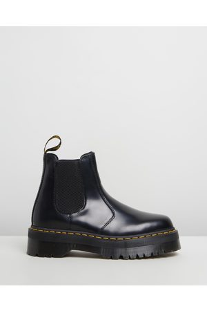 Dr. Martens Unisex 2976 Quad Leather Platform Chelsea Boots - Boots ( Polished Smooth) Unisex 2976 Quad Leather Platform Chelsea Boots