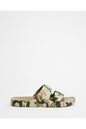 Freedom Moses Slides Unisex - Casual Shoes (Army Khaki) Slides - Unisex