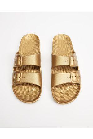 Freedom Moses Slides Unisex - Casual Shoes (Goldie) Slides - Unisex