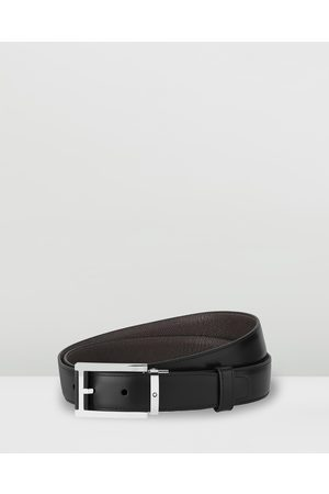 adidas Rectangular Shiny Stainless Steel Leather Pin Buckle Belt - Belts ( Plain & Palmellato Leather) Rectangular Shiny Stainless Steel Leather Pin Buckle Belt