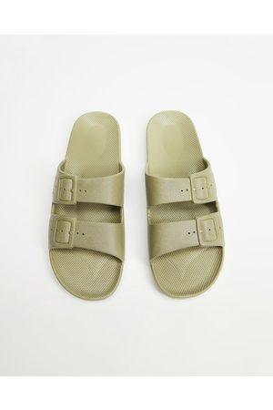 Freedom Moses Sandals - Slides Unisex - Casual Shoes (Khaki) Slides - Unisex