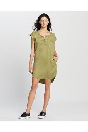 DRICOPER DENIM Novia Tunic Dress - Dresses (Khaki) Novia Tunic Dress