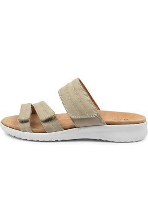 Ziera Women Flat Shoes - Barbra Xw Zr Khaki Sole Sandals Womens Shoes Sandals Flat Sandals