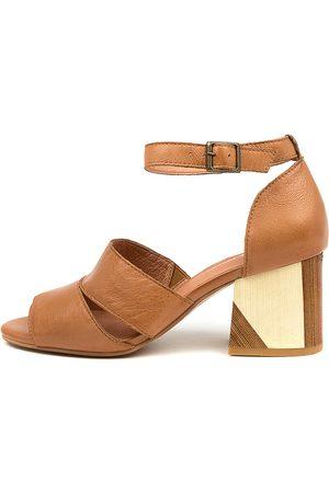 Django & Juliette Virika Dj Dk Tan Sandals Womens Shoes Casual Heeled Sandals