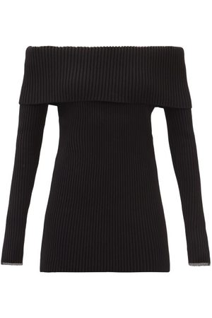 Proenza Schouler Off-the-shoulder Ribbed Sweater - Womens
