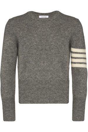 Thom Browne Men Sweatshirts - 4-Bar crew-neck jumper