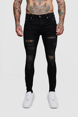 Boohoo Men Skinny - Mens Super Skinny Jean With All Over Rips
