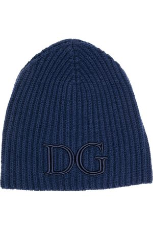 Dolce & Gabbana Men Beanies - Logo-embroidered ribbed beanie