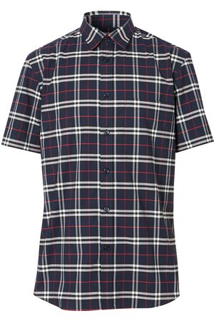 Burberry Men Short sleeves - Check short-sleeve shirt