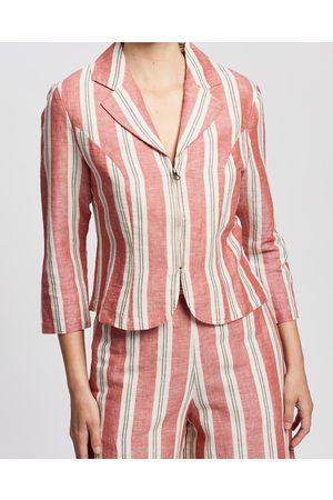 Kaja Clothing Women Blazers - Ebony Jacket - Blazers ( Stripe) Ebony Jacket