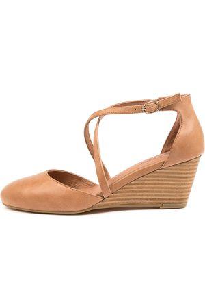Diana Ferrari Leorah Df Tan Shoes Womens Shoes Dress Heeled Shoes