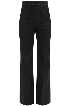 Paco rabanne Tailored Grain De Poudre-wool Trousers - Womens