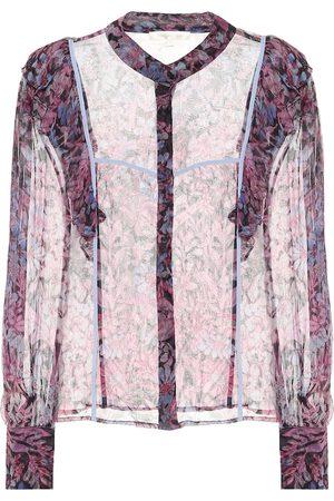 LOVESHACKFANCY Beatrix printed chiffon blouse
