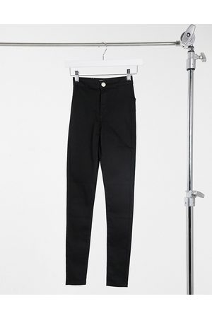 Glamorous High-waisted slim fit jeans in black