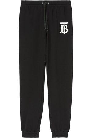 Burberry Monogram logo cotton track trousers