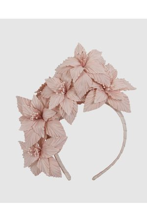 Fillies Collection Bespoke Flower Headband Fascinator - Fascinators (Blush) Bespoke Flower Headband Fascinator