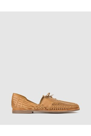 ZU Men Casual Shoes - Charter Woven Leather Huaraches - Casual Shoes (Tan) Charter Woven Leather Huaraches
