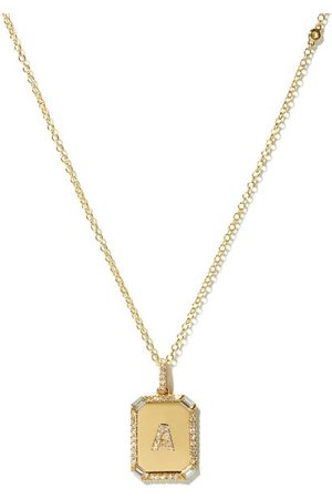 Shay Initial Diamond & 18kt Necklace (a-m) - Womens