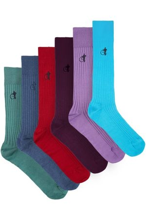 London Sock Company Brave New World Pack Of Six Cotton-blend Socks - Mens - Multi