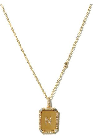 Shay Initial Diamond & 18kt Necklace (n-z) - Womens